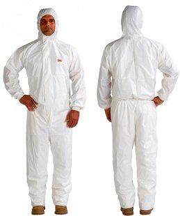 4545 Ochranný jednorázový odev typ 5/6, biely, L