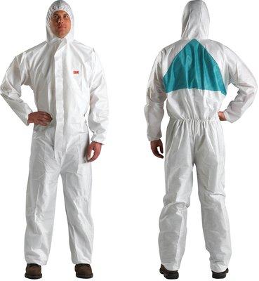4520 Ochranný jednorázový odev typ 5/6, biely so zeleným, XXL
