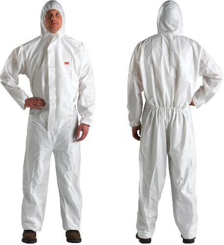 4510 COVERALL TYPE 5/6, WHITE, M