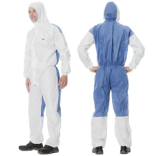4535 Ochranný jednorázový odev typ 5/6, biely s modrou, L
