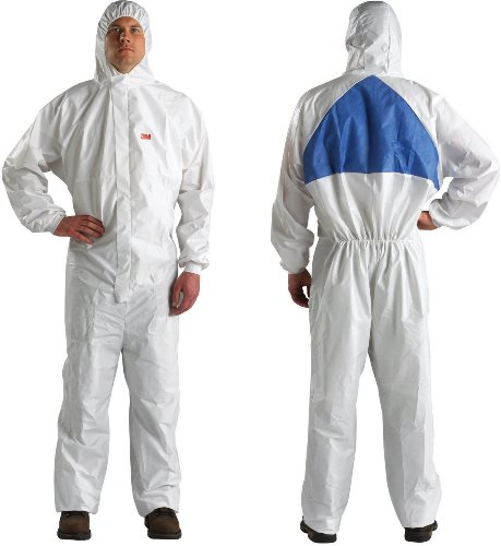 4540+ COVERALL TYPE 5/6, WHITE+BLUE M