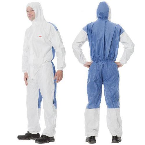 4535 Ochranný jednorázový odev typ 5/6, biely s modrou, M