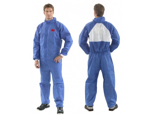 4532+ AR COVERALL TYPE 5/6 , BLUE+WHITE XL