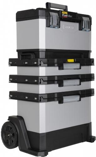 FatMax kovoplastový pojazdný montážny box