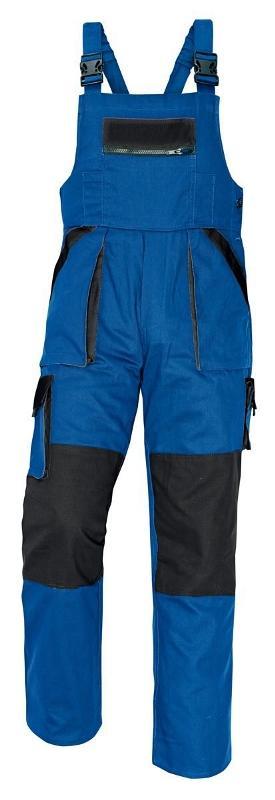 MAX nohavice s náprs. modrá/čierna 52