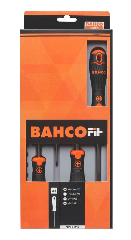 Sada skrutkovačov BahcoFit, 4 ks B219.004