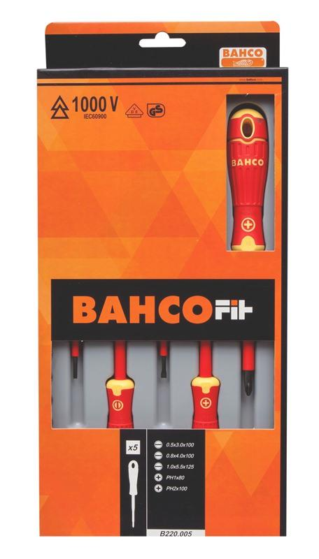 Sada izolovaných skrutkovačov BahcoFit, 5 ks B220.005