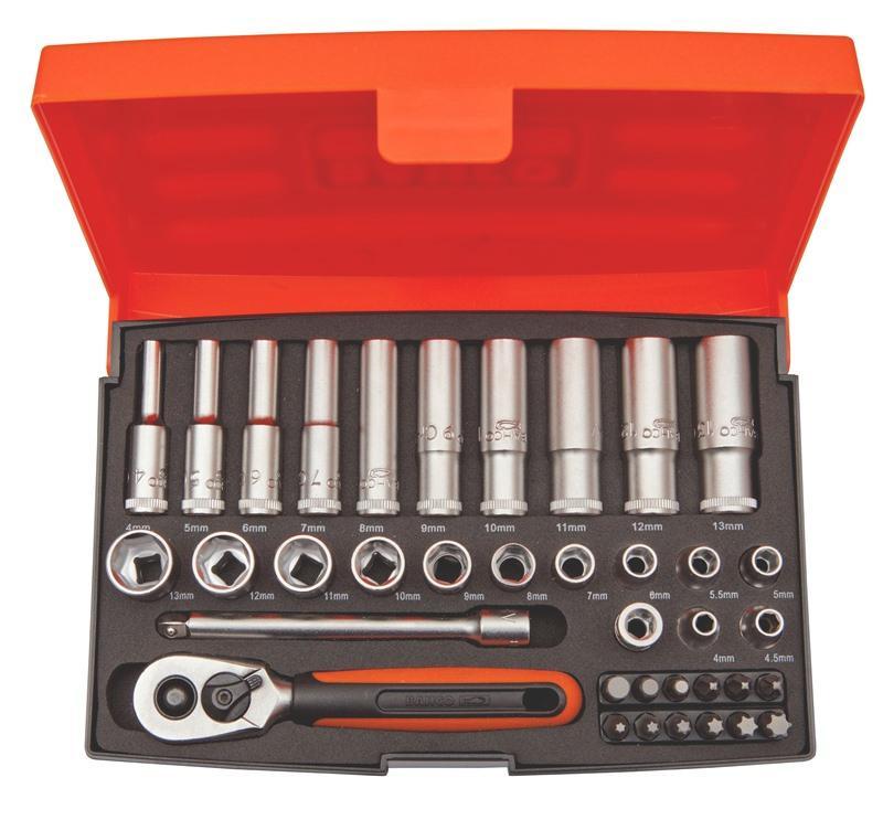 """Sada nástrčných kľúčov 1/4"""" SL25L, 37 dielna"""