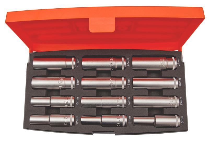 """Sada 1/2"""" nástrčných kľúčov, dlhých S1612L , 12 dielna"""