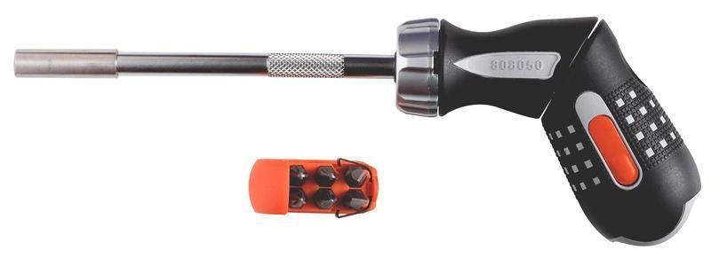 """Pištolový skrutkovač s račňou 1/4"""" bity 5 808050P"""