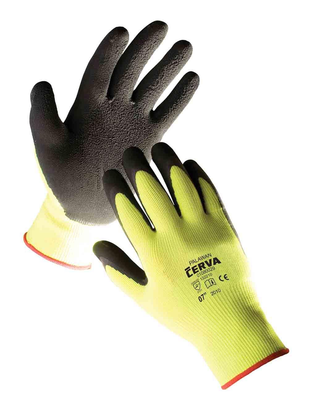 PALAWAN rukavice nylon. late dlaň - 10