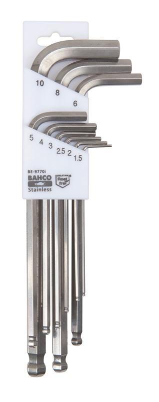 Sada imbusových kľúčov z nehrdzavejúcej ocele BE-9770I