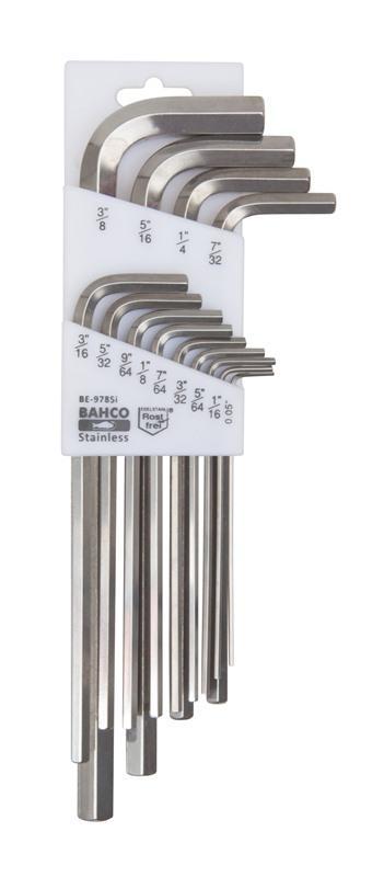 Sada imbusových kľúčov z nehrdzavejúcej ocele BE-9785I