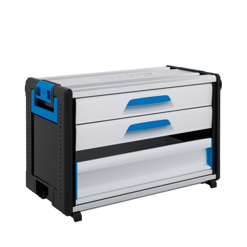 WO 34-500 SBL+FBK - WorkMo modul s 2 zásuvkami a sklopným čelom
