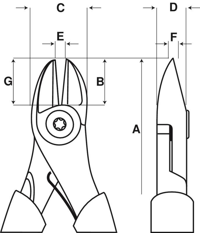 Kliešte štiepacie 2101G-125IP