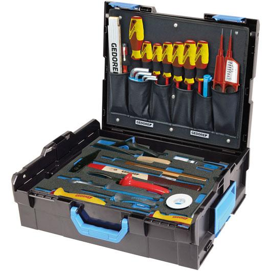 1100-02 SORTIMENT NÁSTROJOV ELEKTRIKÁR v kufríku L-BOXX® 136, 36 dielná