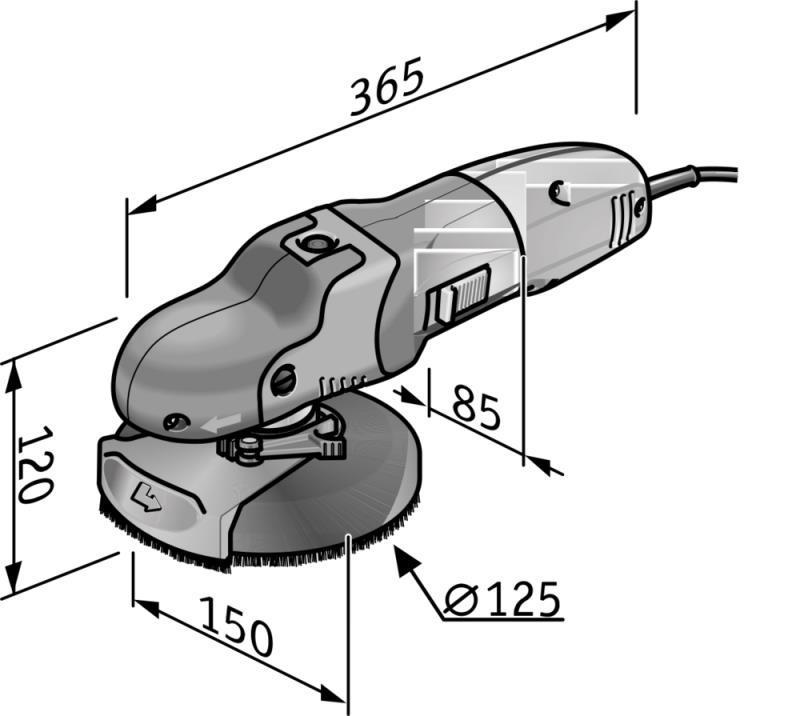 Excentrická brúska SUPRAFLEX SE 14-2 125 Set