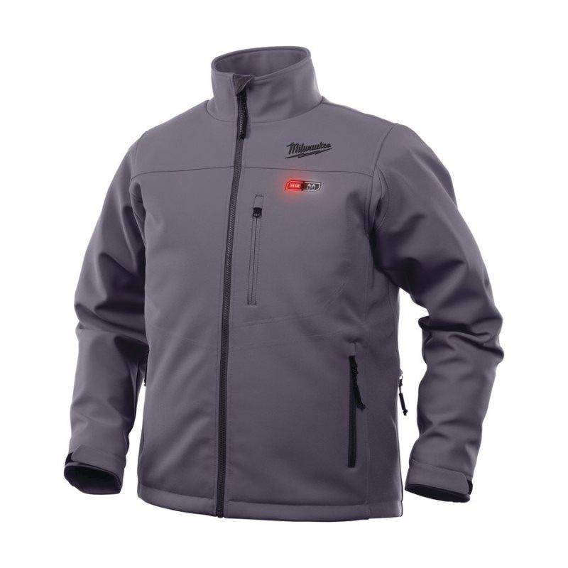 M12™ Prémiová vyhrievaná bunda - šedá HJ GREY3-0 L