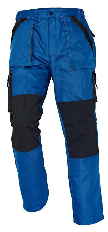 MAX nohavice 260 g/m2 modrá/čierna 46
