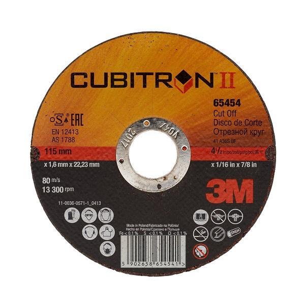 65455 kotúč rezný Cubitron™ II T41, 125 x 1,6 x 22,22