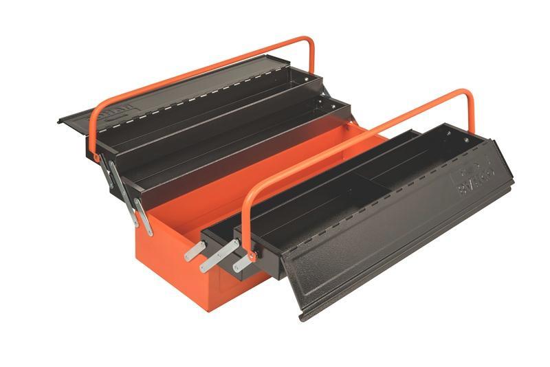 Konzolový kovový rozkladací box na náradie - 5 priehradok 1497MBF550