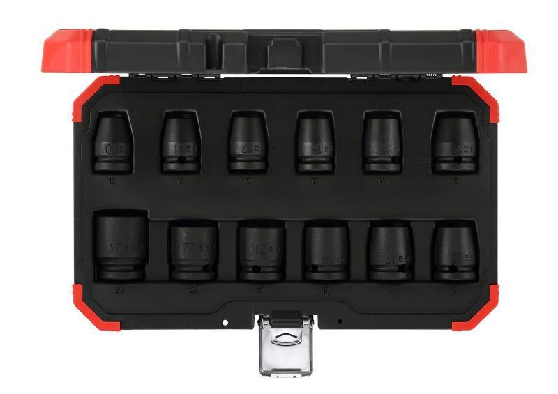 """Sada nástrčných kľúčov k rázovému uťahováku 1/2"""", 12 dielna R63003012"""