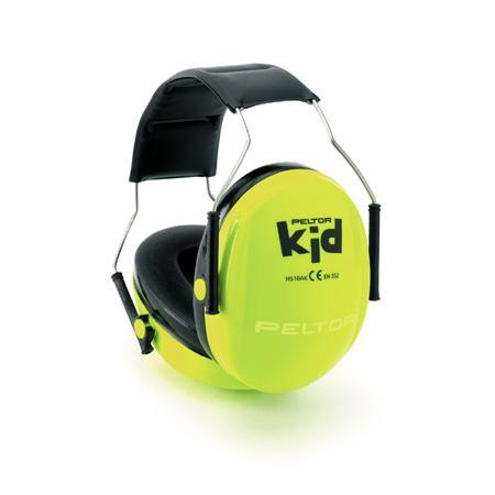 Detské ochranné slúchadlá 3M PELTOR Kid Neon Green H510AK-442-GB