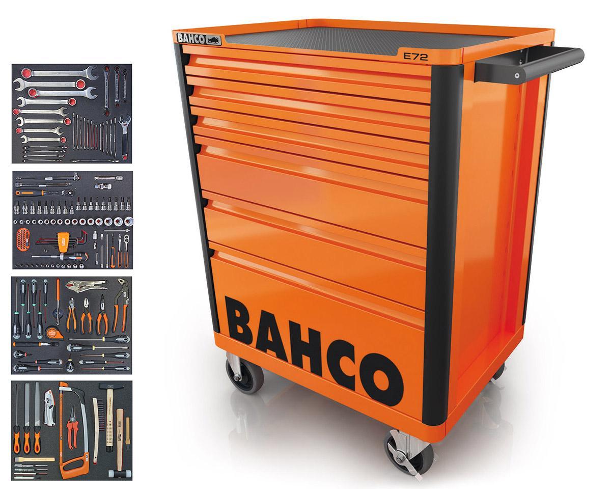 Vozík na náradie so 6-zásuvkami a 177 kusmi náradia, oranžový 1472K6/S1