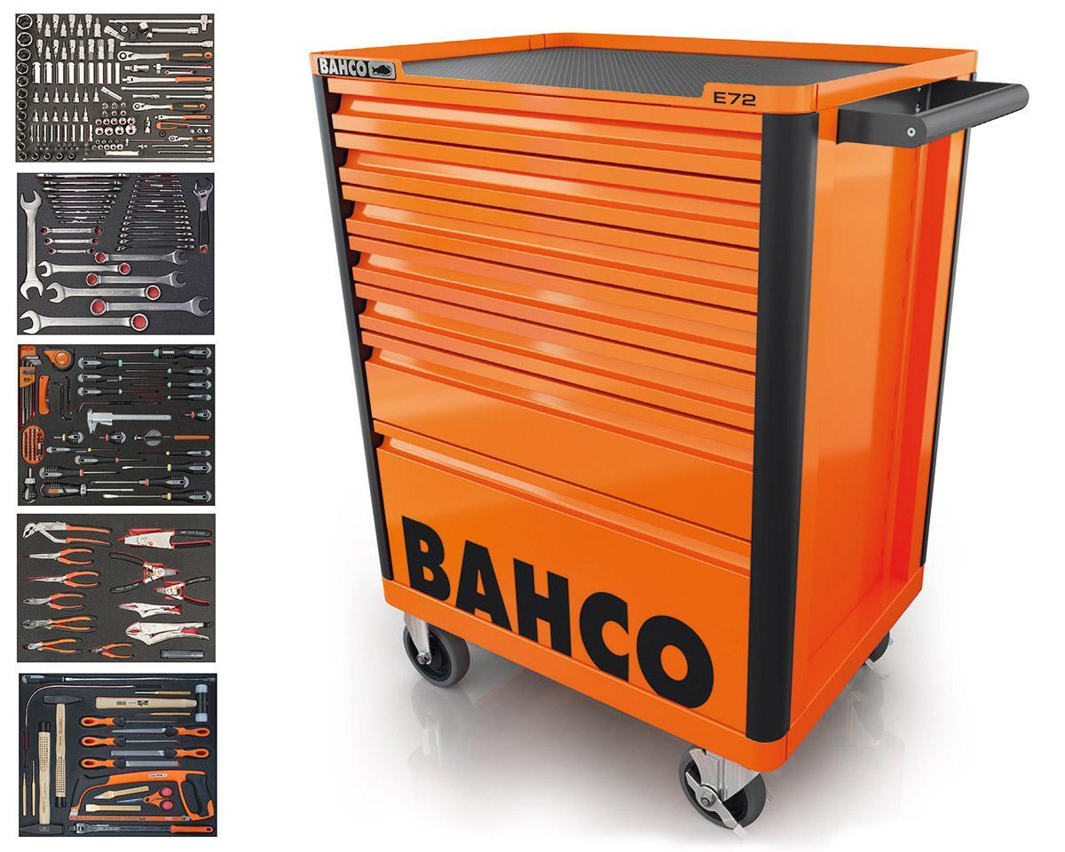 Vozík na náradie so 7-zásuvkami a 300 kusmi náradia, oranžový 1472K7/S1