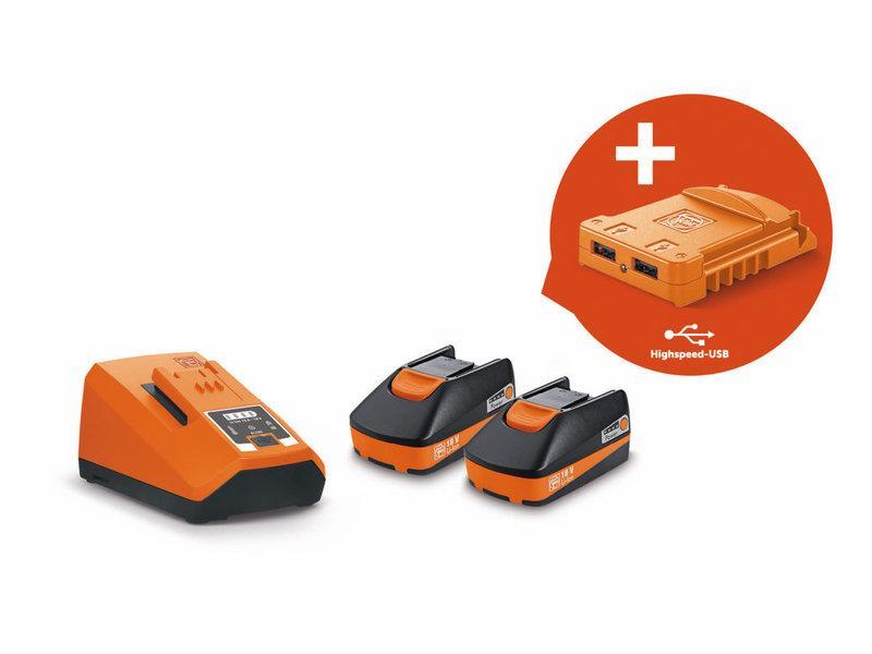 Štartovacia sada akumulátorov 18V/3Ah USB Edition