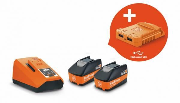 Štartovacia sada akumulátorov 18V/5,2Ah HighPower USB Edition