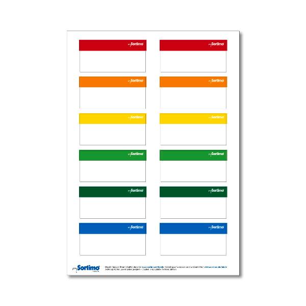 mySORTIMO štítky pre kufre a BOXX-y – 5hárkov