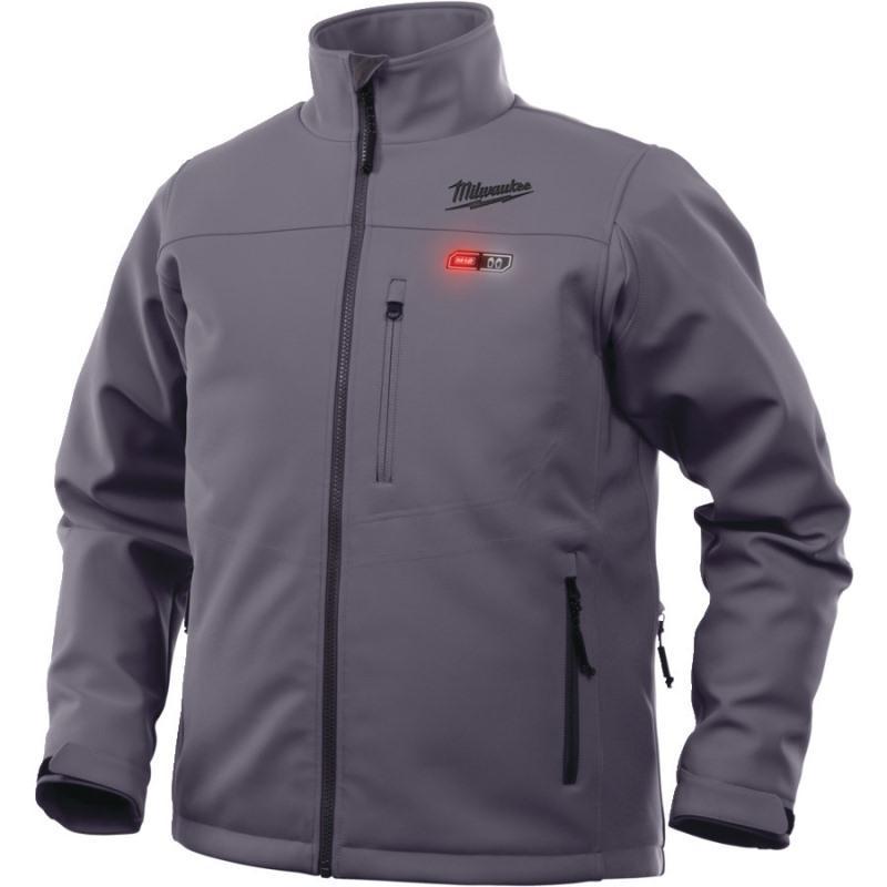 Vyhrievaná bunda Premium šedá M12 HJ GREY4-0 (L)