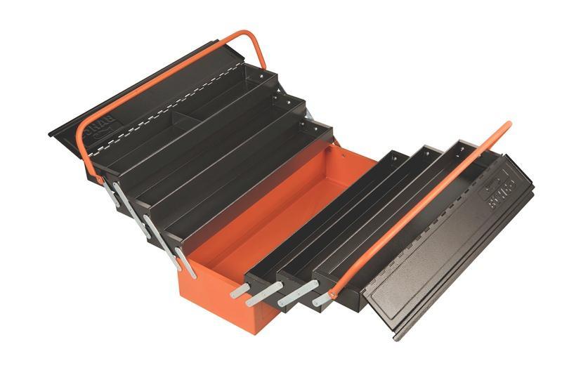 Konzolový kovový rozkladací box na náradie - 7 priehradok 1497MBF750