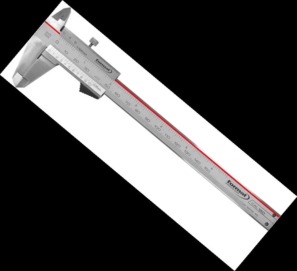 Posuvné meradlo aretácia nerez, 150 mm FORMAT