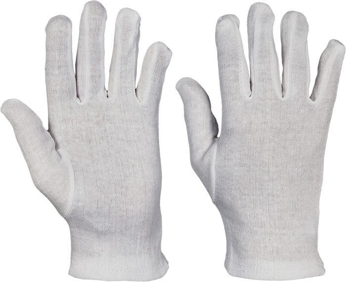 KITE 7 rukavice bavlna - biele