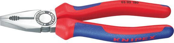Kombinované kliešte leštené,viaczložkové návleky180mm  KNIPEX