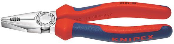 Kombinované kliešte hlava pochrómovaná,viaczložkové návleky180mm  KNIPEX
