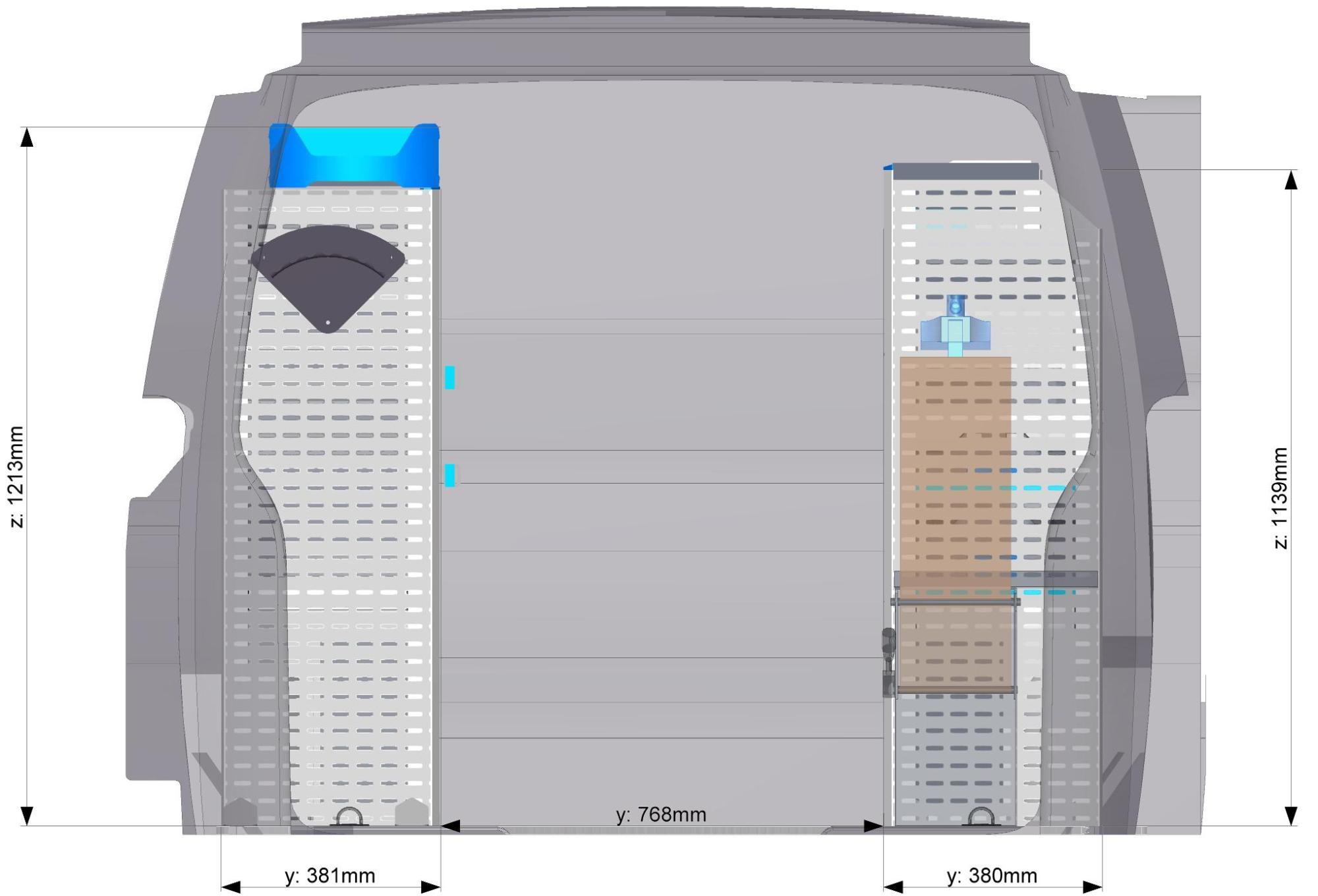 Regálový systém SORTIMO do stredného vozidla Modul 9
