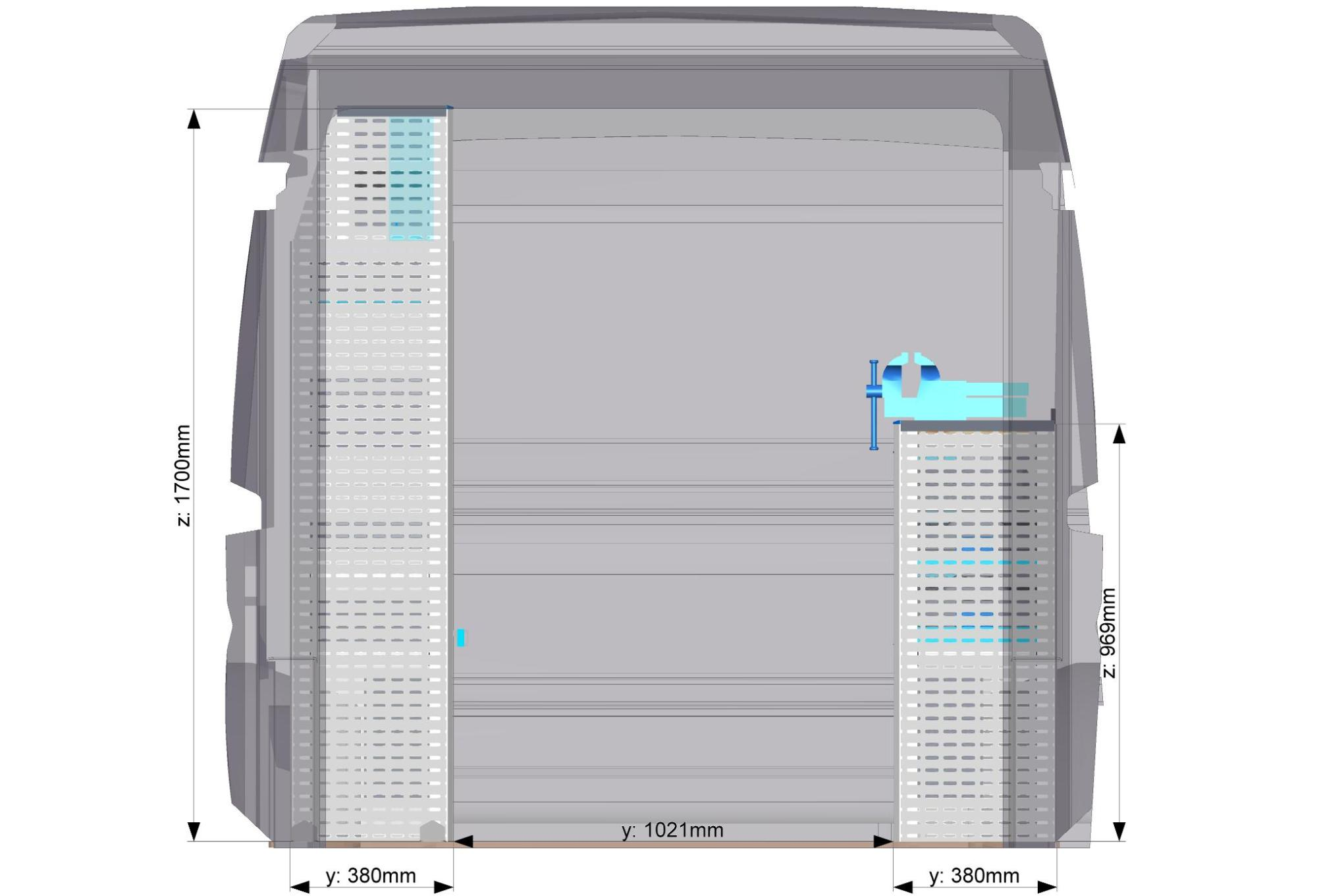 Regálový systém SORTIMO do veľkého vozidla Modul 10