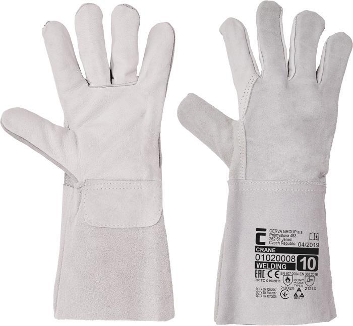 CRANE rukavice celokožené - 10