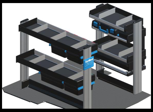 Regálový systém Sortimo do malého vozidla  Modul 8 SR-5