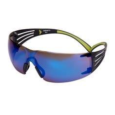 SF408AS-EU, Modré Zrkadlové polykarbonátové okuliare SecureFit, povrch AS, 1/EACH