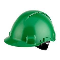 G3000NUV-GP, Zelená prilba s ventiláciou, plastové potítko, koliesko, 1  / EA
